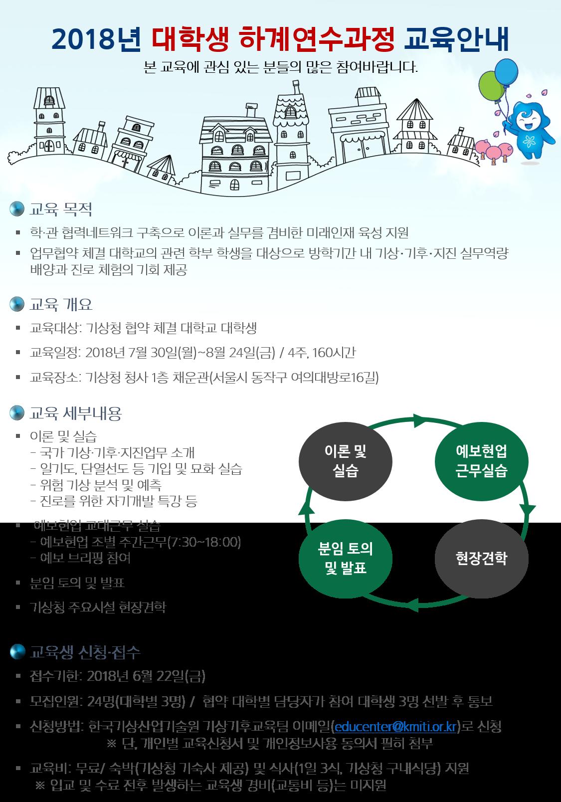 대학생 하계연수과정(7. 30.~8. 24.) 교육안내(포스터).png